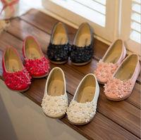 D51392J 2014 fashion slip-on flat single flowers children girls's shoes