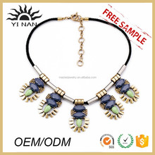 New Product Black Stone Choker Collar Necklace Jewelry Set