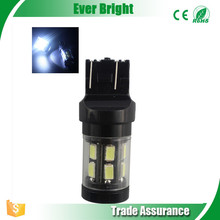 Everbright White T2O 7443 5730-15SMD CAN bus No Error LED Light For Car Map Turn Signal light car led lights t20 w21/5w 7443