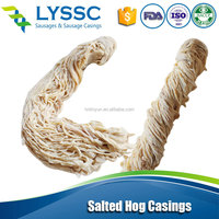 AlibabaTop Sale Good Quality Natural Hog Intestine / Soft Tubed Sausage Pig Casings for Cooked Ham