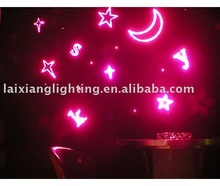 2013 moon and stars imported fifiber optic christmas lights