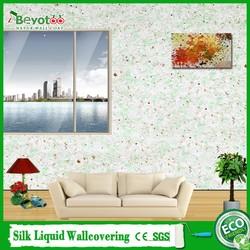 natural powder wall covering interior wall coating material fibre decor wall coating