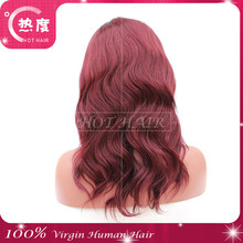 red color Fashionable cheap wigs for black woman wholesale cheap braided lace wigs african braided wig micro braided lace