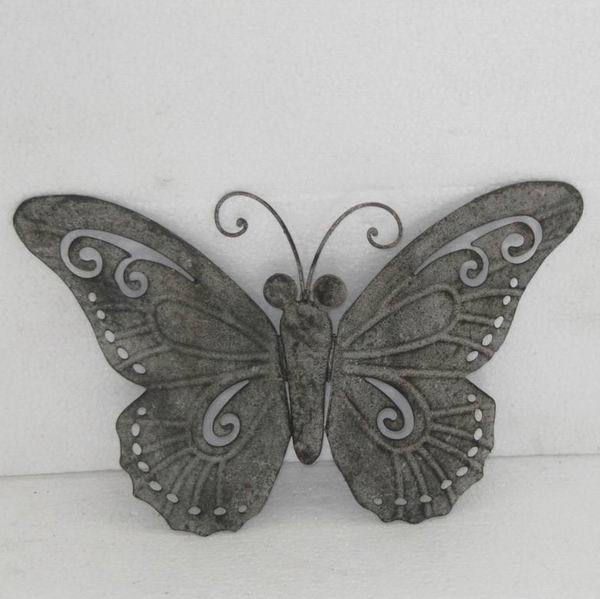 Shabby chic vintage papillon en fer forg d coration for Decor mural fer forge