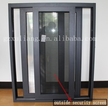 new design aluminum products modern house aluminum sliding window with outside security screen