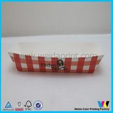 custom design paper hot dog box