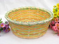 Best sell 2015, Oval Water hyacinth storage basket, new wicker basket design, bamboo basket