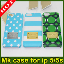 2014 HOT DESIGN MK Cases for iPhone 5s for iPhone 5 Michael Kors for iphone 5s shockproof case for ip5 i5s