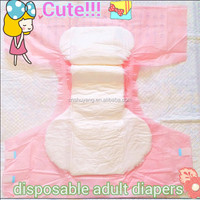 super absorbent disposable cute adult baby style diapers in pink