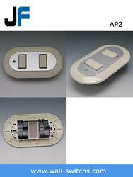 AP2 125V 10A,ABS sivlerAmerican Standard Venezuela 2 gang 2 way wall switch