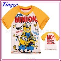 New model wholesale high quality t-shirt printing kids despicable me minion t-shirt HZDE50