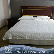 Hot sale hotel bedding textile 100% cotton, stripe satin duvet cover, bed sheet, pillow case(SQJC150033)