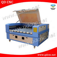 roll fabric laser cutting machine with auto feeding / roll film laser cutter QD-1610-2