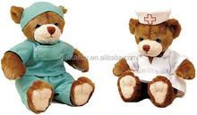 custom doctor and nurse teddy bear plush bear toys with work clothes