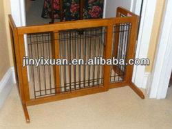Wood Freestanding Pet Friendly Baby Gate / Folding Pet Gate / Dog Gate