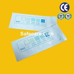 Home or Work Saliva/Urine Alcohol Test Paper