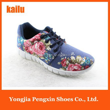 2015 womem printing sport shoes good air permeability soft outsole