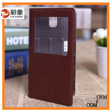 Waterproof leather phone case for samsung galaxy core 2 g3556d / g355h case