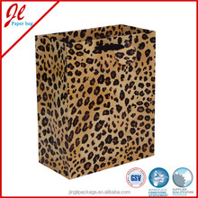 Luxury Shopping Leopard Printed Paper Bags with Leopard Printed
