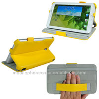 Flip stand tablet leather case for Samsung Galaxy Tab 3 7.0&8.0&10.1 with handstrap and stylus pen loop