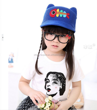 MZ2618 Child knit cute hats with cartoon fish with ears 2015