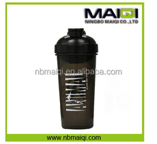 gym nutrition 700ml plastic shaker bottle bpa free