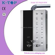 8L forced type Stainless steel panel low water pressureLPG hot water heater,gas water heater ,gas geyser