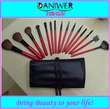 Professional 15pcs goat hair/horse hair makeup brush set