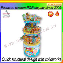 POP candy floor standing display stand for retail shop