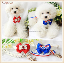 Lace bowknot dog chest harness dog clothes pet harness leash dog harness vest collar