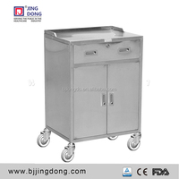 Stainless steel hospital surgery anesthesia trolley