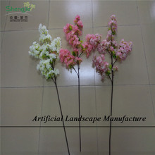 SJCB01 Cherry blossom branches wholesale in guangzhou , single artificial cherry blossom branch