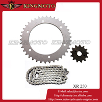 OEM Manufacturer of 45# Steel Motorcycle Big and Small Sprocket Chain set