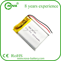 Rechargeable 3.7V 550mAh Polymer Lithium-Ion Battery