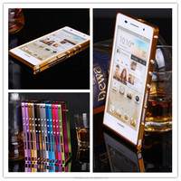 Hight Quality Screw Metal Frame Bumper Case For Huawei Ascend P6