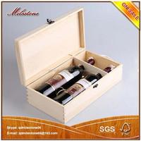 Portable Winebottle Storage Box Vintage Wood Wine Bottle Packaging Case Wth Handle