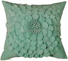 Luxury 3d patchwork flower applique cushion