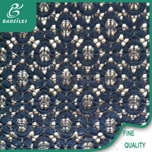 new arrival dark blue round lace fabrics/lace wedding dresses /french lace fabric