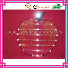 wall mount apple shaped clear acrylic nail polish display rack