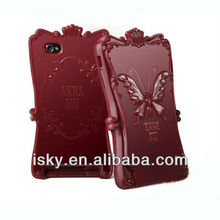 Warehouse Price Luxury Unique Fashion practical anna sui butterfly magic mirror case for iPhone 5 5g