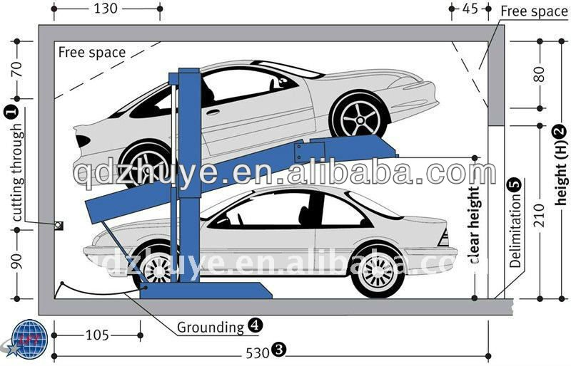 Home garage car lift cheap car lifts hydraulic car Lift for home garage