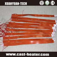 silicone rubber heater tape with magic sticks or 3m