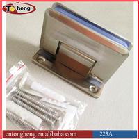 Solid brass Stainless steel GLASS SHOWER DOOR HINGE for header free shower enclosure system