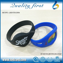 Free Samples Sillicone T5577 36bit ICODE2 Smart Wristband/ Bracelet for Swimming Pool