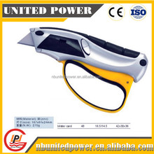 Plastic With Rubber Grip Handle 3 PCS Auto Loading Blade Utility Knife Hot Sales