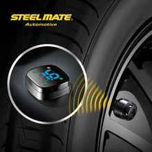 2015 Steelmate TP-76B car led Wireless DIY tpms manifold gauge,tyre pressure gauge keyring,differential pressure gauges