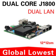 New J1800 motherboard mini assemble mainboard 2 usb3.0 Rs 232 com port, 2 Ethernet port