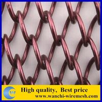 metal fabric curtain/decorative wire mesh fabric/decorative wire netting