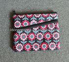 Personalizado padrão de flores bolsa de neoprene lápis/saco/2013 caso
