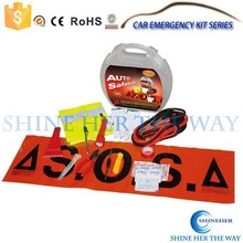 Car Safety Emergency Tool Kit With Air Compressor